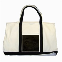 Distorted Net Pattern Two Tone Tote Bag