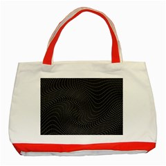 Distorted Net Pattern Classic Tote Bag (Red)