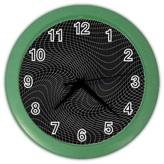 Distorted Net Pattern Color Wall Clocks