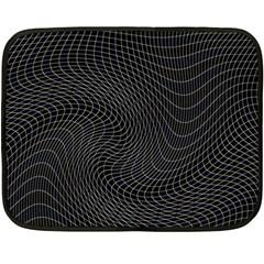 Distorted Net Pattern Fleece Blanket (Mini)