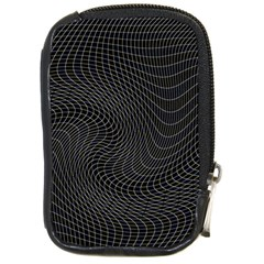 Distorted Net Pattern Compact Camera Cases