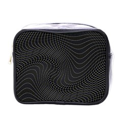 Distorted Net Pattern Mini Toiletries Bags