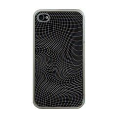 Distorted Net Pattern Apple iPhone 4 Case (Clear)