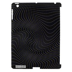 Distorted Net Pattern Apple Ipad 3/4 Hardshell Case (compatible With Smart Cover)