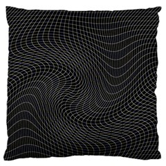 Distorted Net Pattern Large Cushion Case (Two Sides)