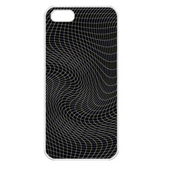 Distorted Net Pattern Apple iPhone 5 Seamless Case (White)