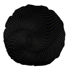 Distorted Net Pattern Large 18  Premium Round Cushions