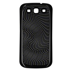 Distorted Net Pattern Samsung Galaxy S3 Back Case (Black)