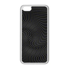 Distorted Net Pattern Apple Iphone 5c Seamless Case (white)