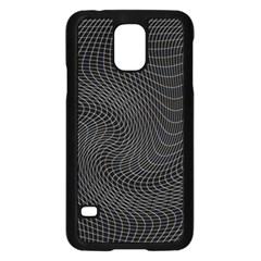 Distorted Net Pattern Samsung Galaxy S5 Case (Black)