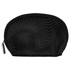 Distorted Net Pattern Accessory Pouches (Large)