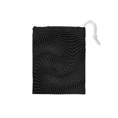 Distorted Net Pattern Drawstring Pouches (Small)