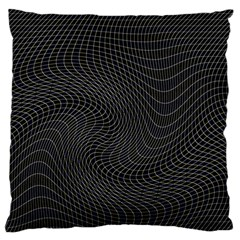 Distorted Net Pattern Large Flano Cushion Case (One Side)