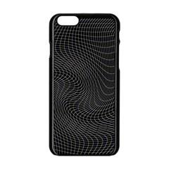 Distorted Net Pattern Apple iPhone 6/6S Black Enamel Case