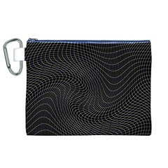 Distorted Net Pattern Canvas Cosmetic Bag (XL)