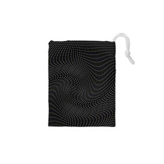 Distorted Net Pattern Drawstring Pouches (XS)