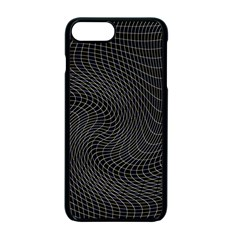 Distorted Net Pattern Apple Iphone 7 Plus Seamless Case (black)