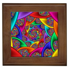 Color Spiral Framed Tiles