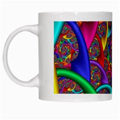 Color Spiral White Mugs