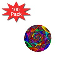 Color Spiral 1  Mini Buttons (100 pack)