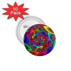 Color Spiral 1 75  Buttons (10 Pack)