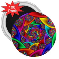 Color Spiral 3  Magnets (100 pack)