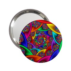 Color Spiral 2 25  Handbag Mirrors