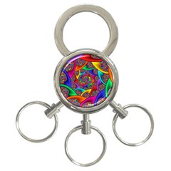 Color Spiral 3 Ring Key Chains