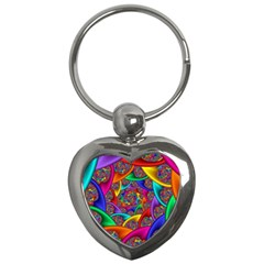 Color Spiral Key Chains (Heart)