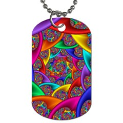 Color Spiral Dog Tag (Two Sides)