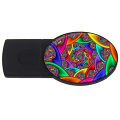 Color Spiral Usb Flash Drive Oval (2 Gb)