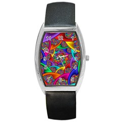 Color Spiral Barrel Style Metal Watch