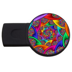 Color Spiral Usb Flash Drive Round (4 Gb)