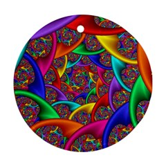 Color Spiral Round Ornament (Two Sides)