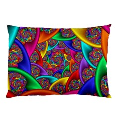 Color Spiral Pillow Case