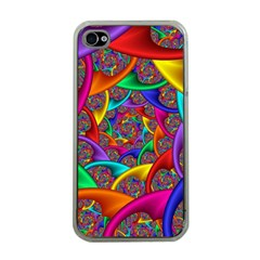 Color Spiral Apple iPhone 4 Case (Clear)