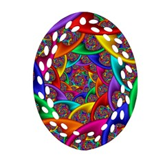 Color Spiral Oval Filigree Ornament (Two Sides)