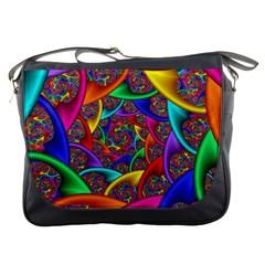 Color Spiral Messenger Bags