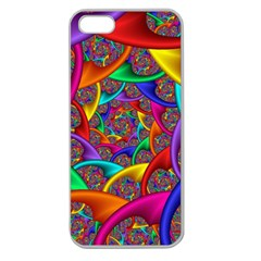 Color Spiral Apple Seamless iPhone 5 Case (Clear)