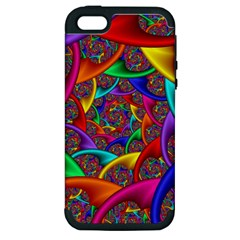 Color Spiral Apple Iphone 5 Hardshell Case (pc+silicone)
