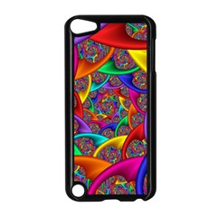 Color Spiral Apple Ipod Touch 5 Case (black)