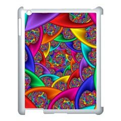 Color Spiral Apple iPad 3/4 Case (White)