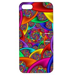 Color Spiral Apple iPhone 5 Hardshell Case with Stand