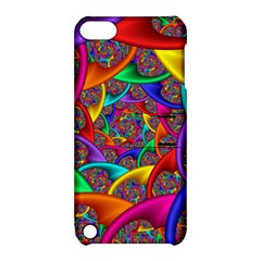 Color Spiral Apple iPod Touch 5 Hardshell Case with Stand