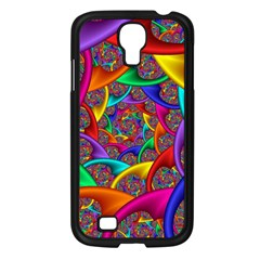 Color Spiral Samsung Galaxy S4 I9500/ I9505 Case (Black)