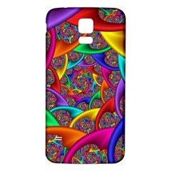 Color Spiral Samsung Galaxy S5 Back Case (White)