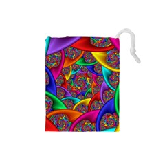 Color Spiral Drawstring Pouches (Small)