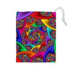 Color Spiral Drawstring Pouches (large)