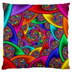 Color Spiral Large Flano Cushion Case (one Side)
