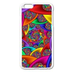 Color Spiral Apple iPhone 6 Plus/6S Plus Enamel White Case